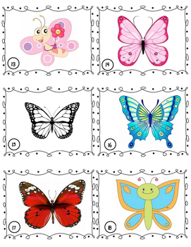 Butterfly Magnify Search and Addition Game