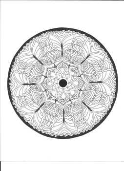 Butterfly Mandala Coloring Page