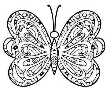 Butterfly Mandala & Zentangle Designs Coloring Book