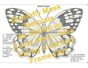 Butterfly Mask - Flying Butterfly Craft