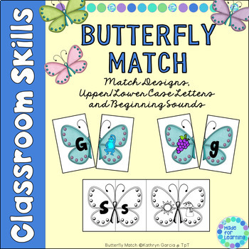 Matching Upper/Lowercase Letters and Beginning Sounds with