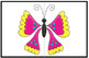 Butterfly Matching Game (Insect) - Full Color Version