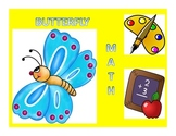 Butterfly Math (adding, subtracting, ordering numbers, eve