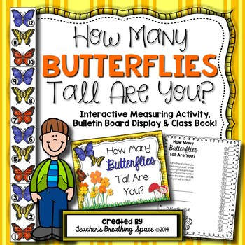 Spring Measuring -- How Many Butterflies Tall Are You? Measurement Math Center