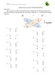 Butterfly Method Fraction Worksheet
