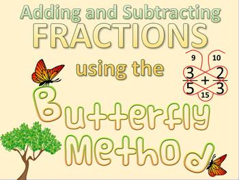 Butterfly Method for Adding and Subtracting Fractions + BONUS RESOURCES