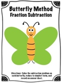 Butterfly Method of Fraction Subtraction Math Center (Comm