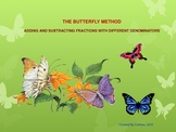 Add/Subtract Fractions with Unlike Denominator using Butterfly Method