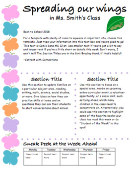 Butterfly Newsletter for Spring: 3 designs, all EDITABLE!