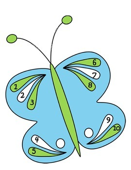 Spring Butterfly Number Match Activity 1-10 and 1-20