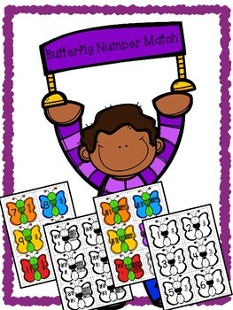 Butterfly Number Match - Numerals, Number Words, Tally Marks & Ten Frames