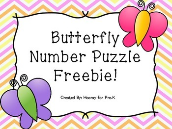 Butterfly Number Puzzle {FREEBIE}