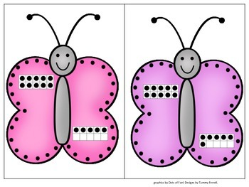 Butterfly Numbers 11-20 Decomposing Numbers into Tens and Ones