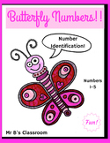 Butterfly Numbers! #s 1-5 Identification Early Math Skills FREE FUN ART TOO!