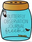 Butterfly Observation Journal FREEBIE