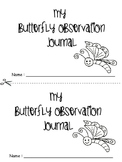 Butterfly Observation Journal for Painted Lady Butterflies