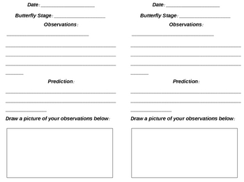 Butterfly Observation Journals