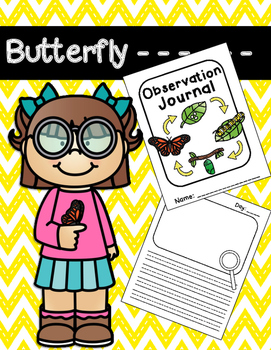 Butterfly Observation Journals {Butterfly/Caterpillar Life Cycle}