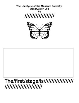 Butterfly Observation Log