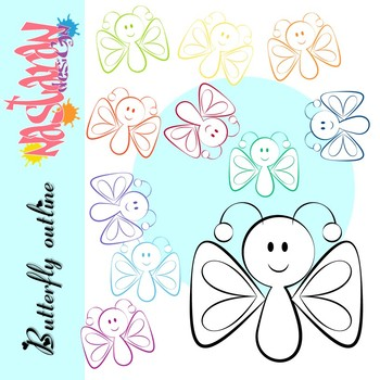 Butterfly Outline Clipart