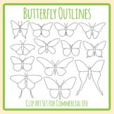 Butterfly Outlines / Templates - Different Species of Butterflies Clip Art Set
