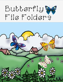 Butterfly Pattern File Folders