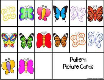 Butterfly Pattern Match Card Game {FREE}