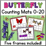 Butterfly Play Dough Counting Mats 0-20