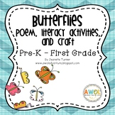 Butterfly Poem, Writing Activities and Crafts for Pre-K to Kindergarten