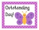 Butterfly Polka Dot Behavior Clip Chart Posters
