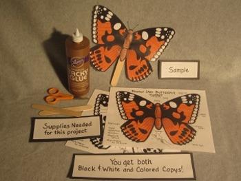 Butterfly Stick Puppet. Fun Craft Art