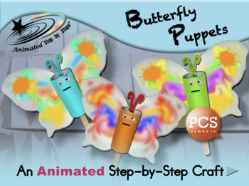 Butterfly Puppets - Animated Step-by-Step Craft - PCS