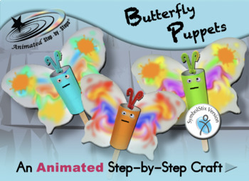 Butterfly Puppets - Animated Step-by-Step Craft SymbolStix