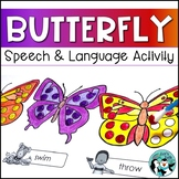 Butterfly Q-tip Painting for Speech & Language