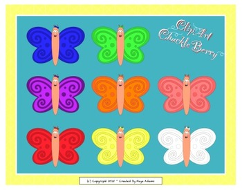 Butterfly Rainbow Clip Art Pack