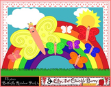 Butterfly Rainbow Clip Art Pack