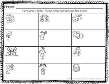 Butterfly Read the Room!  Use Words To Complete Sentences Using Picture Clues!
