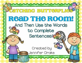 Butterfly Read the Room!  Use Words To Complete Sentences