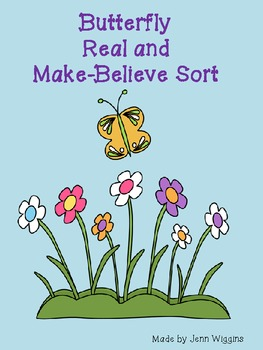 Butterfly Real or Make Believe Activity Pack