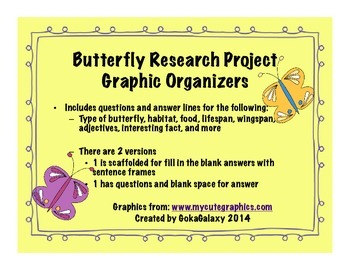 Butterfly Research Graphic Organizer