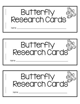 Butterfly Research and Informational Writing