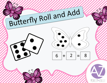 Butterfly Math Roll and Add