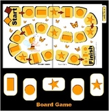 Butterfly Shapes Board Game - Preschool and Kindergarten (