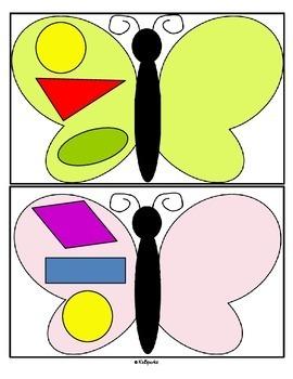 Butterfly Shapes Symmetry FREE