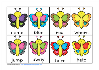 Butterfly Sight Word Race