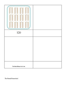 Butterfly Skip Counting 10s 3-part cards