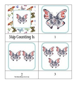 Butterfly Skip Counting Bundle (1s-15s)