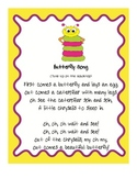 Butterfly Song Fluency Activities