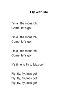 Butterfly Song/Poem