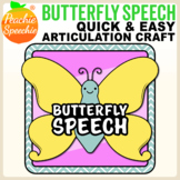 Butterfly Speech - Articulation Butterflies! Craft for Speech Therapy